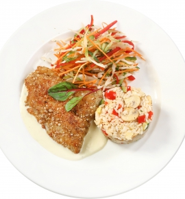 Pangasius fried roasted cereal crust