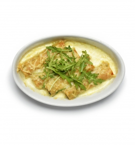 CHICKEN AND MUSHROOM CANNELLONI